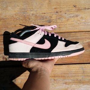 Nike Dunk Low Black Pink Walking Sneakers Shoes